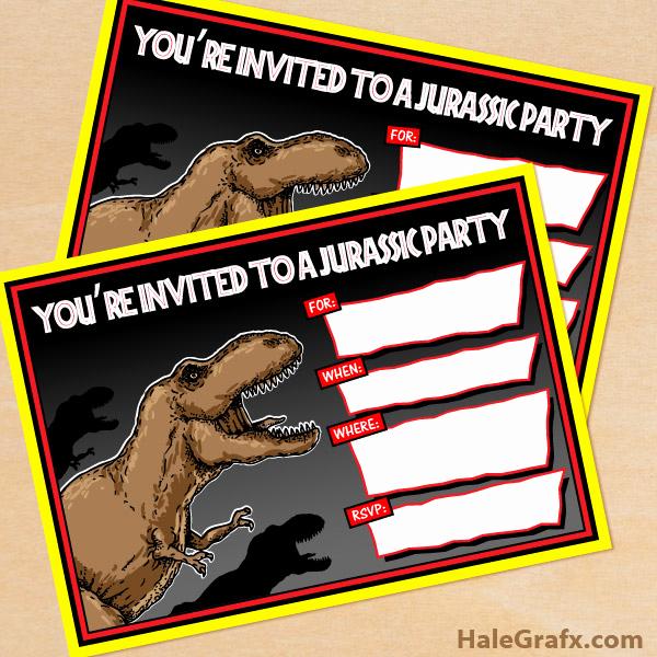 Jurassic World Invitation Template Free Best Of Free Printable Jurassic Park T Rex Birthday Invitation
