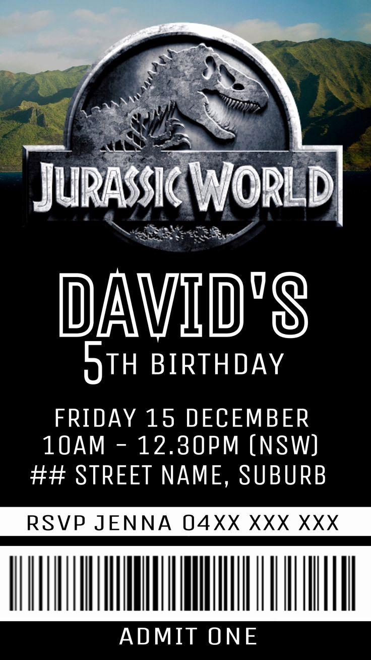 Jurassic World Invitation Template Free Best Of Jurassic World Party Invite