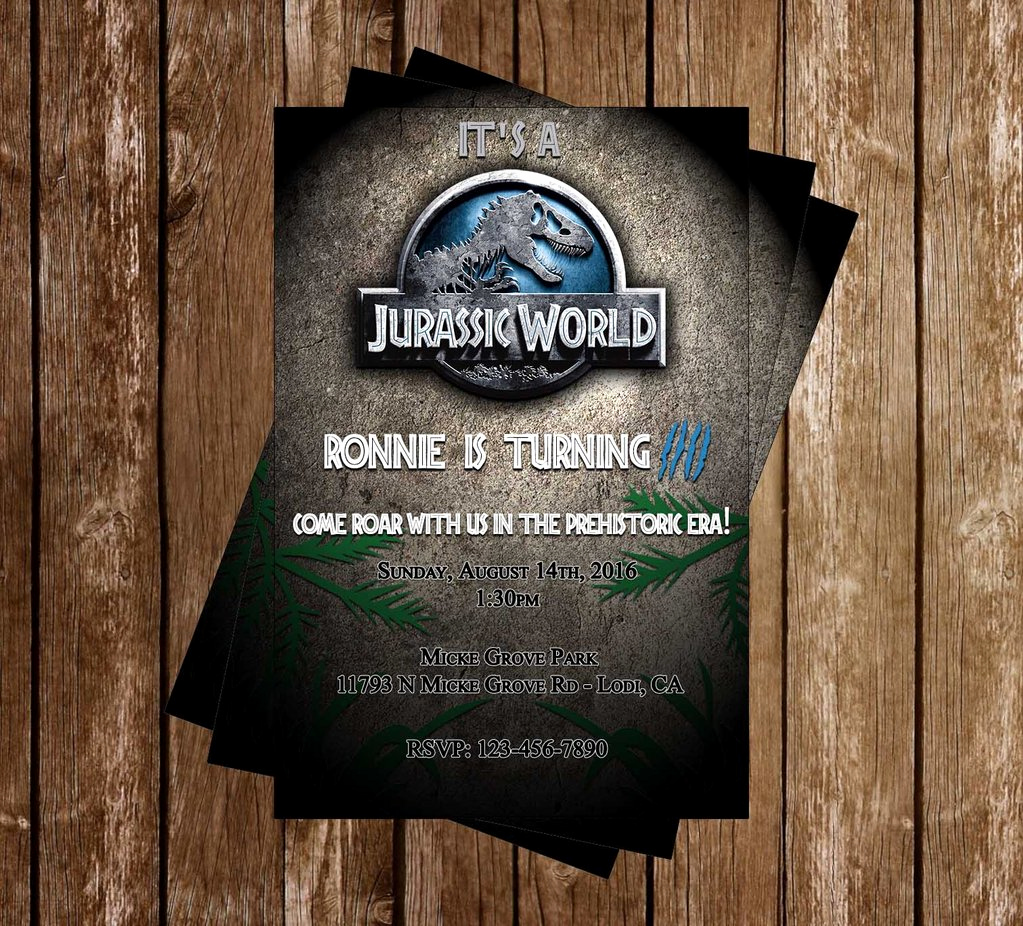 Jurassic World Invitation Template Free Best Of Novel Concept Designs Jurassic World Birthday Invitation