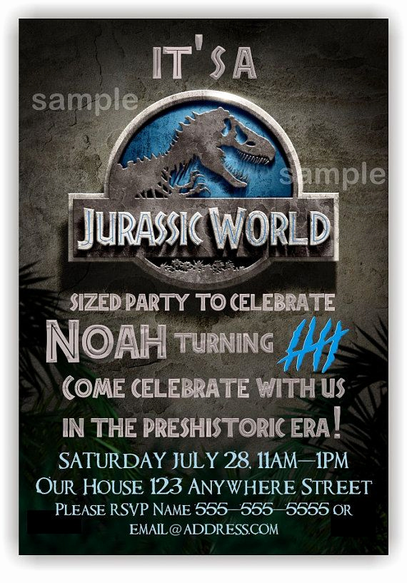 Jurassic World Invitation Template Free Fresh Jurassic World Invitations