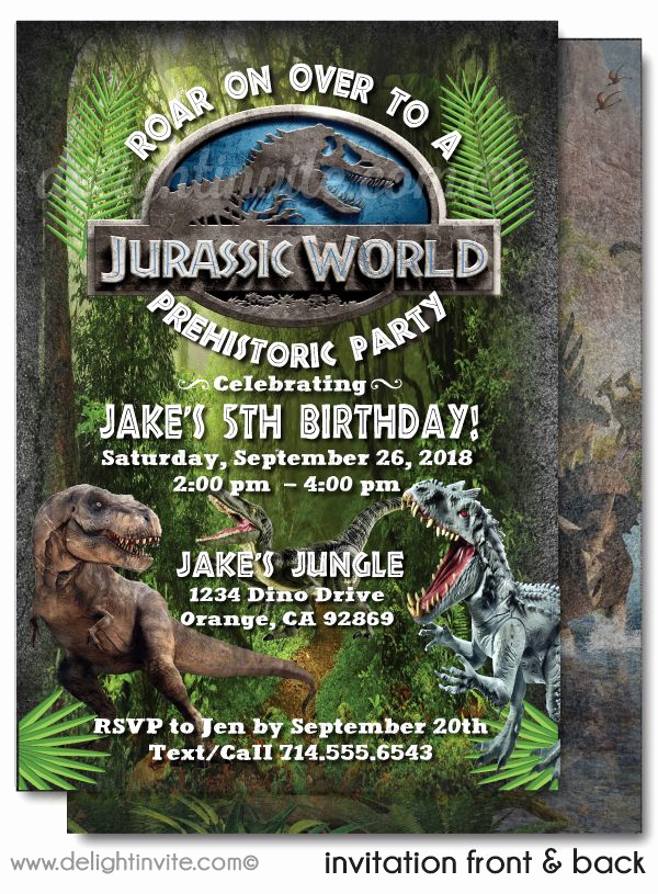 Jurassic World Invitation Template Free Fresh Jurassic World Jurassic Park Printable Invitations