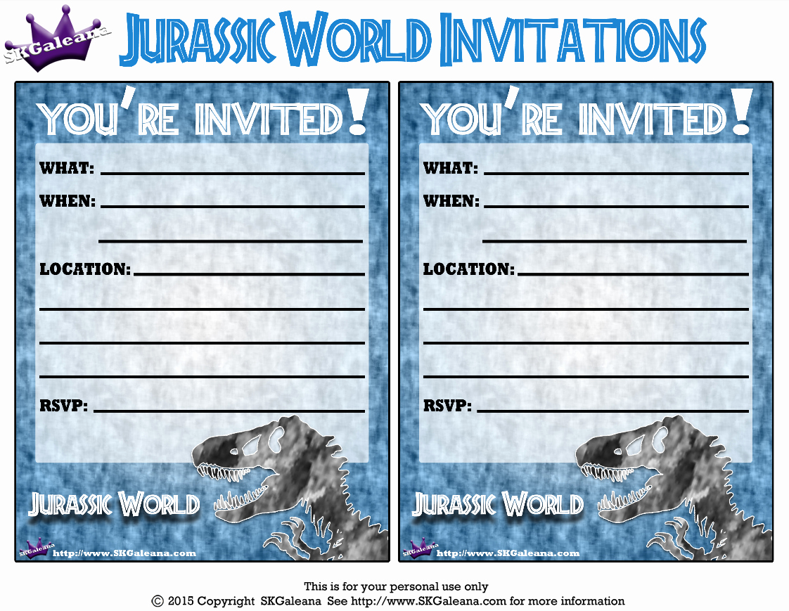 Jurassic World Invitation Template Free Fresh Pin by ℱℓⒾ℘℘∊ℛ I Ⓐm ړײ On Party Dinosaurs