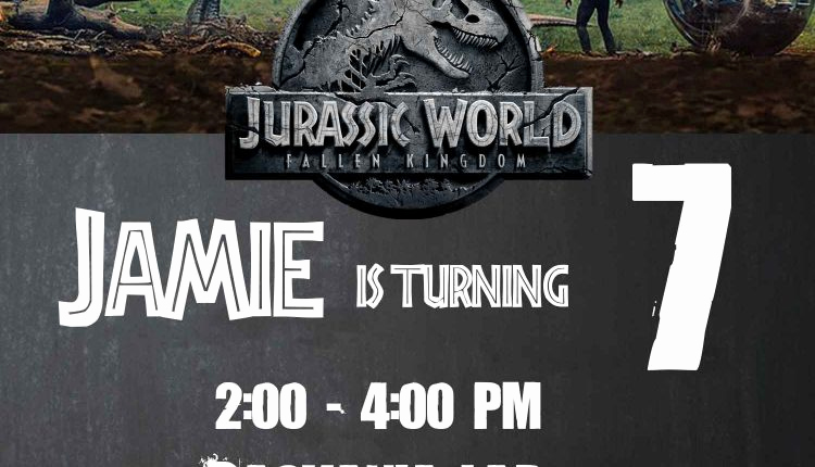 Jurassic World Invitation Template Free Lovely Free Jurassic World Birthday Invitation Template Preview