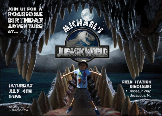 Jurassic World Invitation Template Free Lovely Items Similar to Jurassic World Birthday Invite