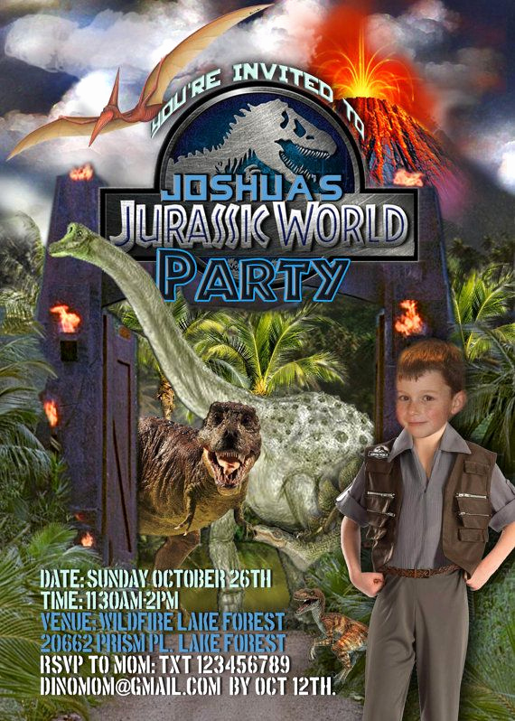 Jurassic World Invitation Template Free Luxury 40 Best Personalised Invitations Images On Pinterest