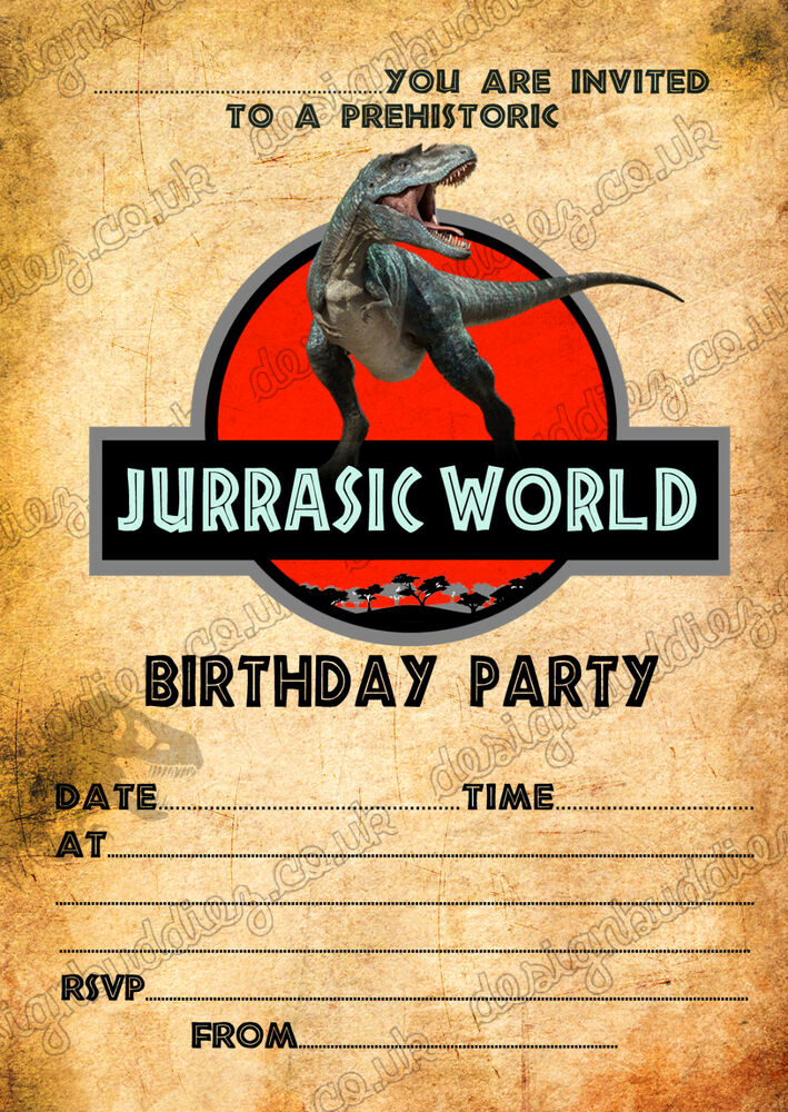 Jurassic World Invitation Template Free Luxury Birthday Party Invitations Jurassic World Dinosaurs T
