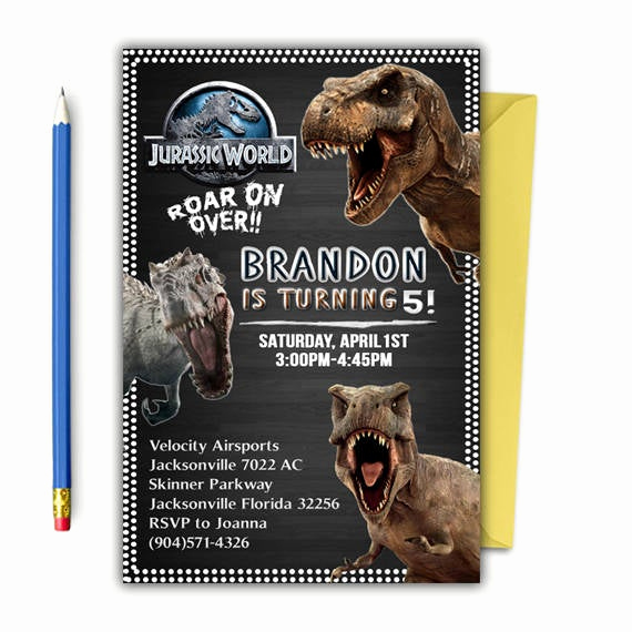 Jurassic World Invitation Template Free Luxury Jurassic Park Invitation Jurassic World Invitations Jurassic