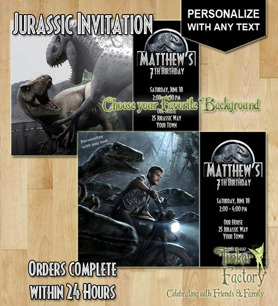 Jurassic World Invitation Template Free Luxury Unavailable Listing On Etsy