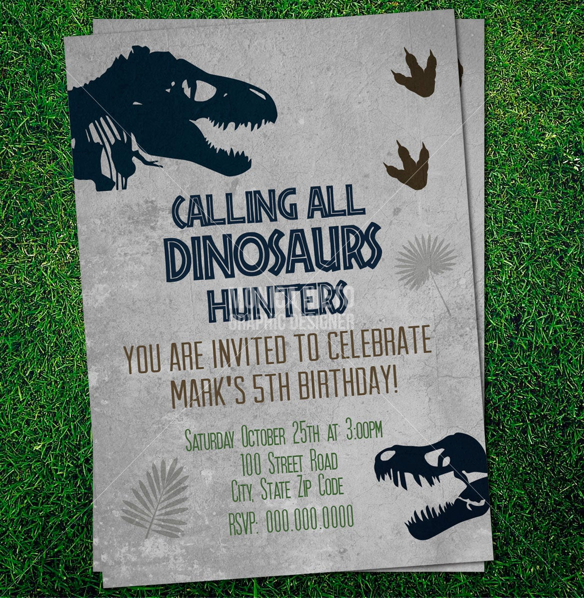 Jurassic World Invitation Template Free Unique Custom Printable Jurassic Dinosaur Party Birthday Invitation