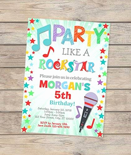 Karaoke Party Invitation Wording Fresh Amazon Karaoke Birthday Invitation Party Like A