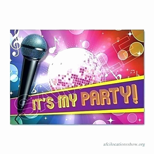Karaoke Party Invitation Wording New Karaoke Party Invitation Wording