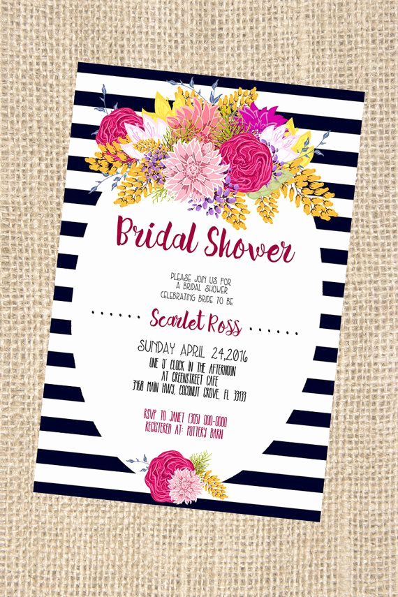 Kate Spade Invitation Template Free Beautiful Kate Spade themed Bridal Shower Invitation by Printaholics