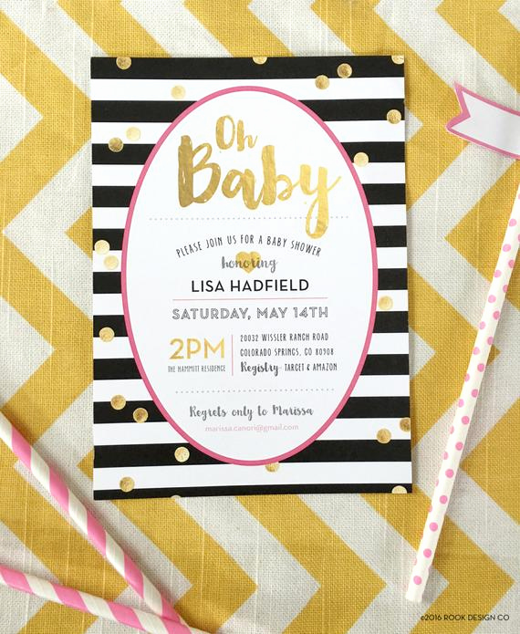 Kate Spade Invitation Template Free Best Of Baby Shower Invite Girl Kate Spade Inspired by Rookdesignco