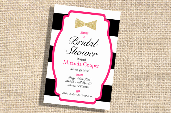 Kate Spade Invitation Template Free Best Of Gold Bridal Shower Invitation Templates Designtube