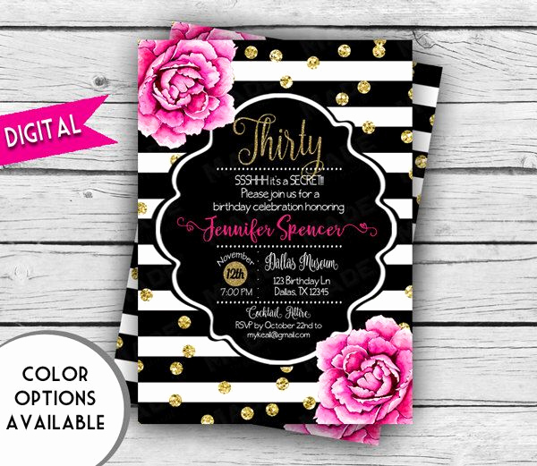 Kate Spade Invitation Template Free Elegant Pin by tori Cline On 30th 50th Bday Party