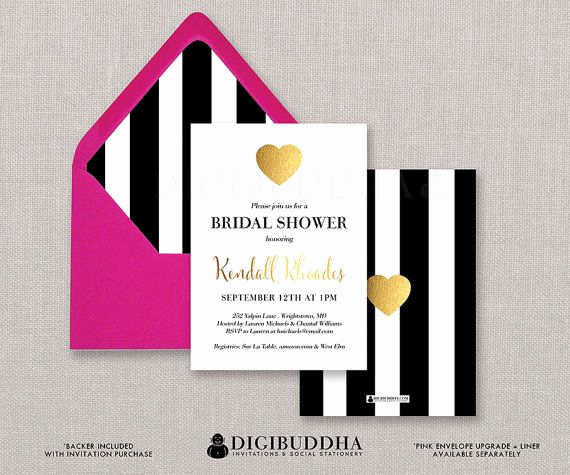 Kate Spade Invitation Template Free Fresh Bridal Shower Invitation Black and White Stripe Bridal