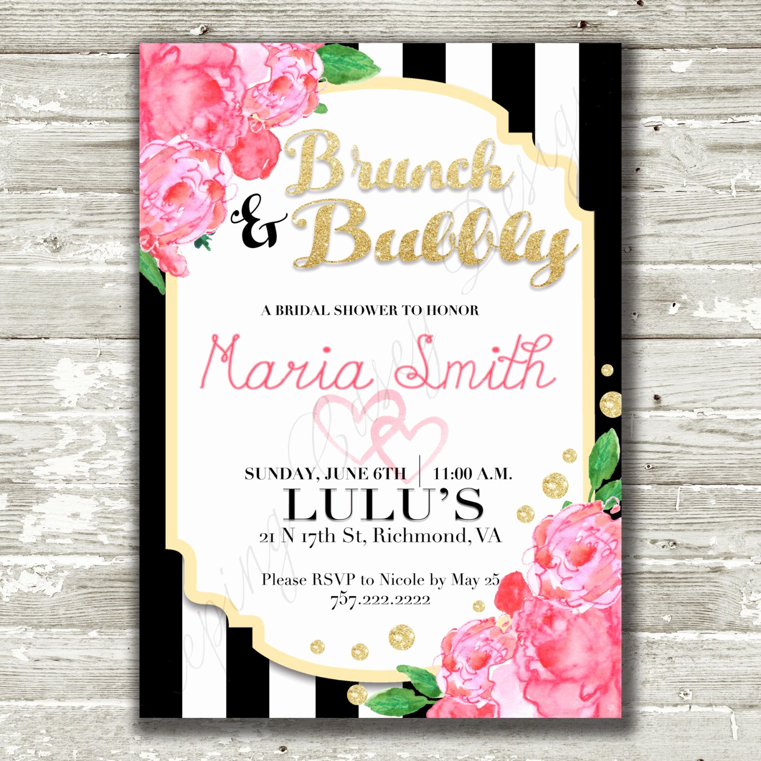 Kate Spade Invitation Template Free Fresh Pin by Keeping Casey Designs On Bridal Shower Invitations