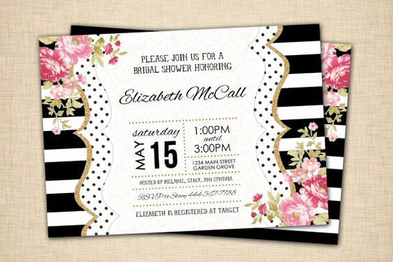 Kate Spade Invitation Template Free Lovely Everything You Need for A Kate Spade Inspired Bridal