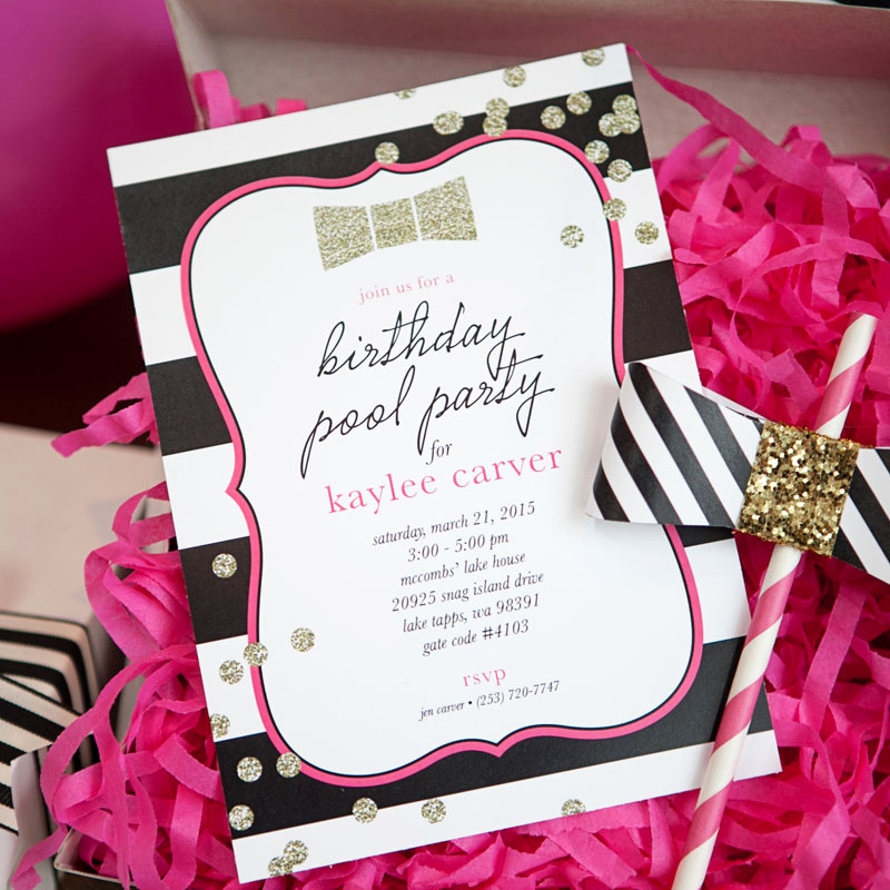 Kate Spade Invitation Template Free Lovely Fashion Inspired Bow Gold Glitter Printable Invitation