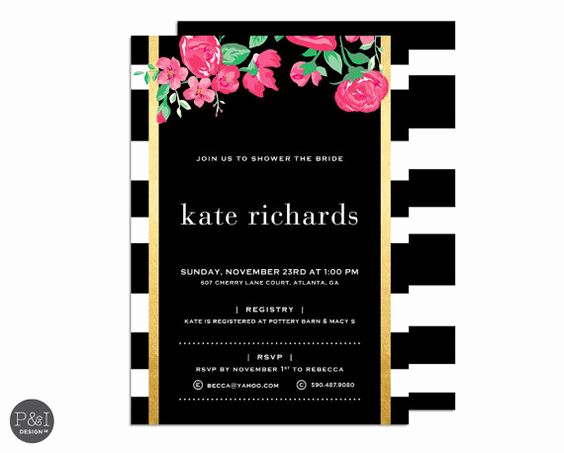 Kate Spade Invitation Template Free Lovely Invitations Gold and Kate Spade On Pinterest