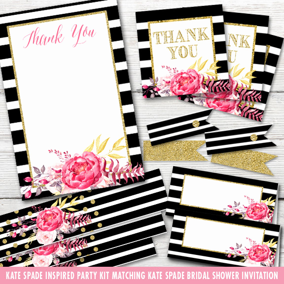 Kate Spade Invitation Template Free Luxury Inspired Kate Spade Bridal Shower Party Kit by Partymonkey