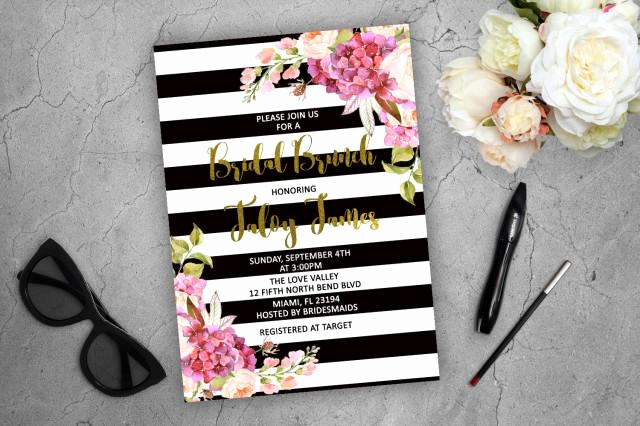 Kate Spade Invitation Template Free Unique Bridal Brunch Invitation Kate Spade Inspired Floral