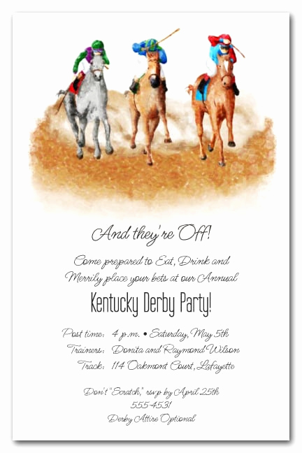 Kentucky Derby Invitation Templates Free Awesome the Finish Horse Racing Invitations Kentucky Derby Party