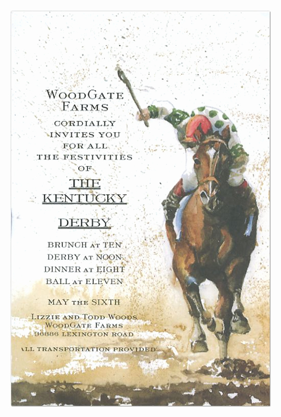 Kentucky Derby Invitation Templates Free Beautiful Kentucky Derby Invitations Awesome Art