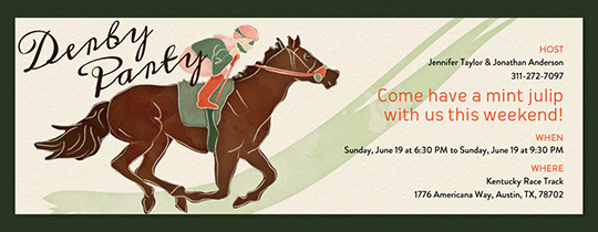 Kentucky Derby Invitation Templates Free Elegant Invitations Free Ecards and Party Planning Ideas From Evite