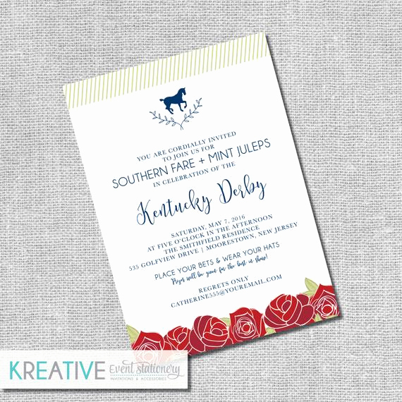 Kentucky Derby Invitation Templates Free Fresh Kentucky Derby Invitation Run for the Roses by Kreativees