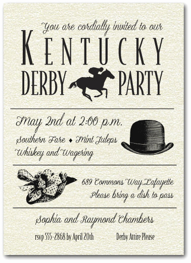 Kentucky Derby Invitation Templates Free Fresh Shimmery White Billboard Kentucky Derby Day Party Invitations