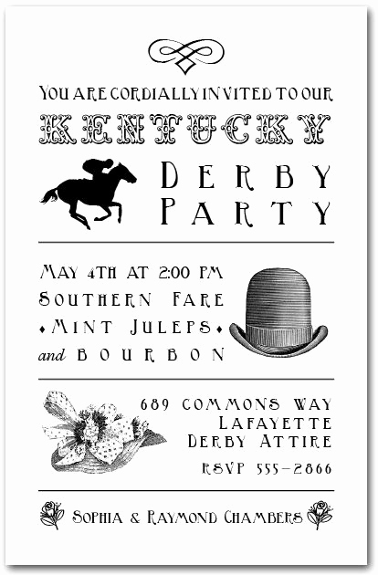 Kentucky Derby Invitation Templates Free Inspirational 13 Best Images About Derby Day On Pinterest