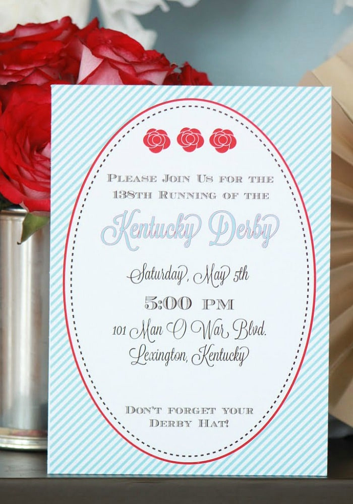 Kentucky Derby Invitation Templates Free Inspirational Kentucky Derby Party Free Party Printables somewhat Simple