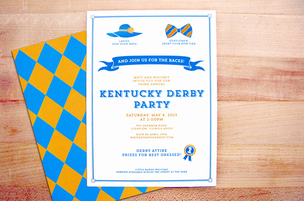 Kentucky Derby Invitation Templates Free New Kentucky Derby Party Invitations On Behance