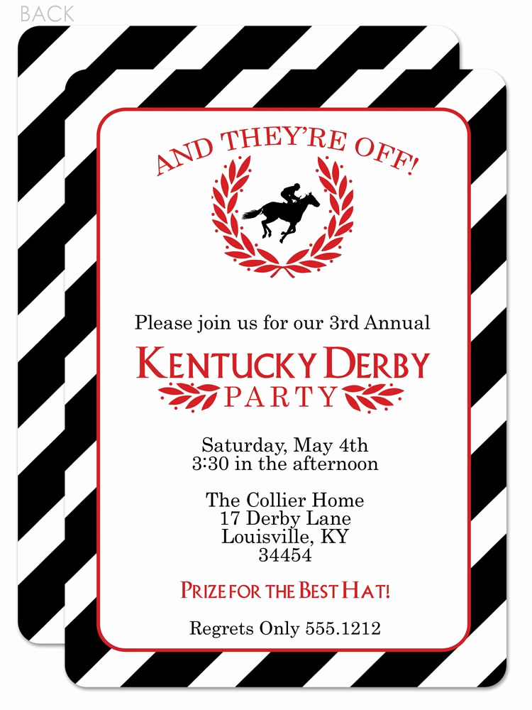 Kentucky Derby Invitation Wording Awesome Classic and Beautiful Kentucky Derby Party Invitation I