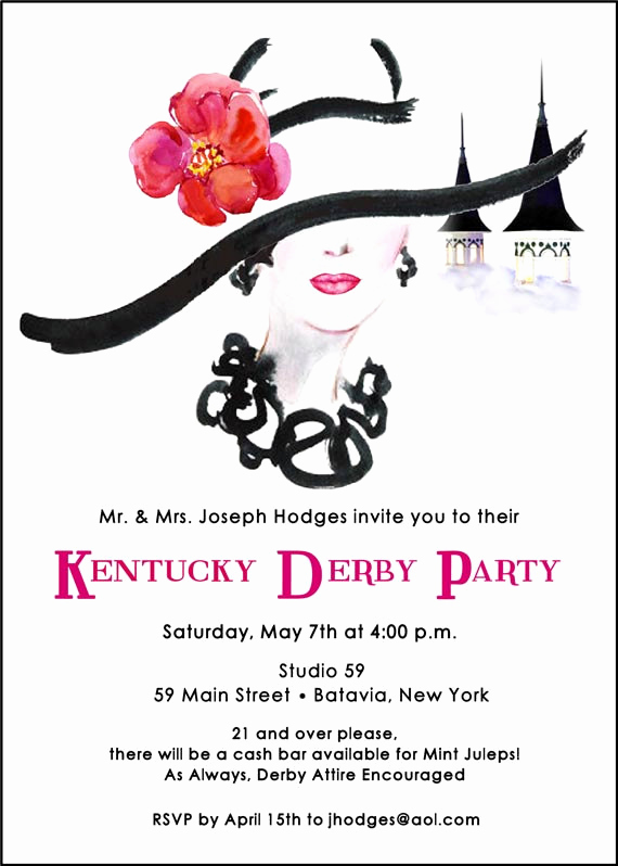 Kentucky Derby Invitation Wording Awesome Kentucky Derby Party Invitation Run for the Roses