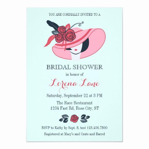Kentucky Derby Invitation Wording Best Of Kentucky Derby Inspired Bridal Shower Invitation