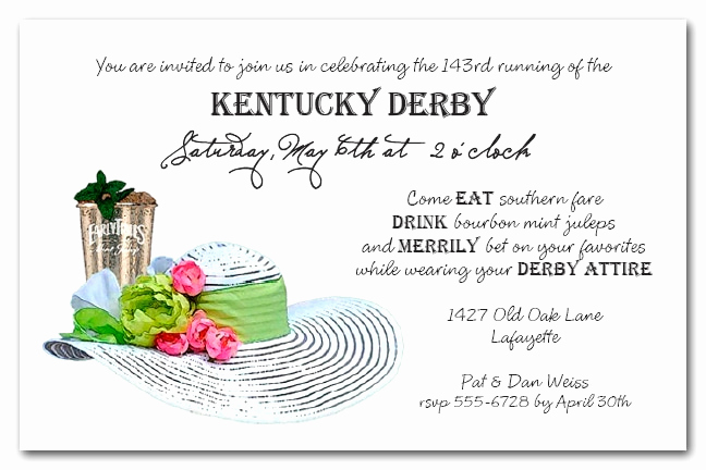 Kentucky Derby Invitation Wording Best Of Kentucky Derby Party Invitations the Invitation Shop