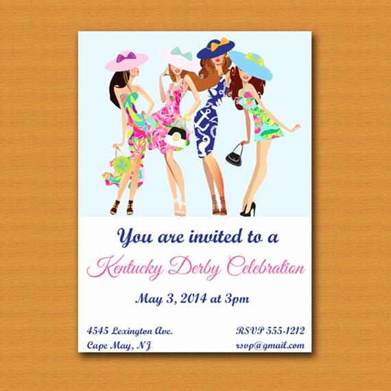 Kentucky Derby Invitation Wording Elegant Kentucky Derby Party Invite
