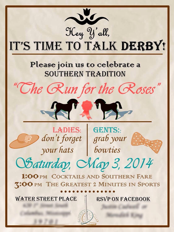 Kentucky Derby Invitation Wording Inspirational My Kentucky Derby Party Invitation