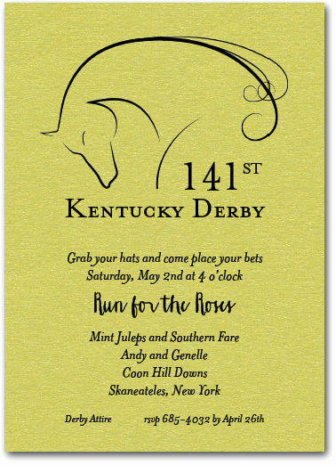 Kentucky Derby Invitation Wording Lovely Elegant Horse Kentucky Derby Party Invitations On Shimmery