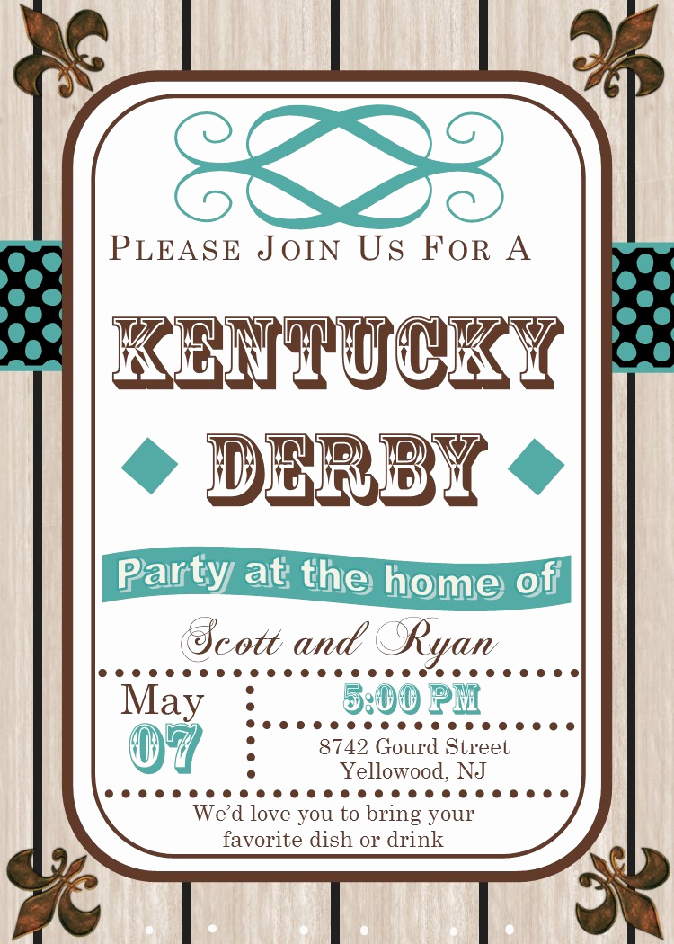 Kentucky Derby Invitation Wording Lovely Kentucky Derby Party Invitations May 5 2018