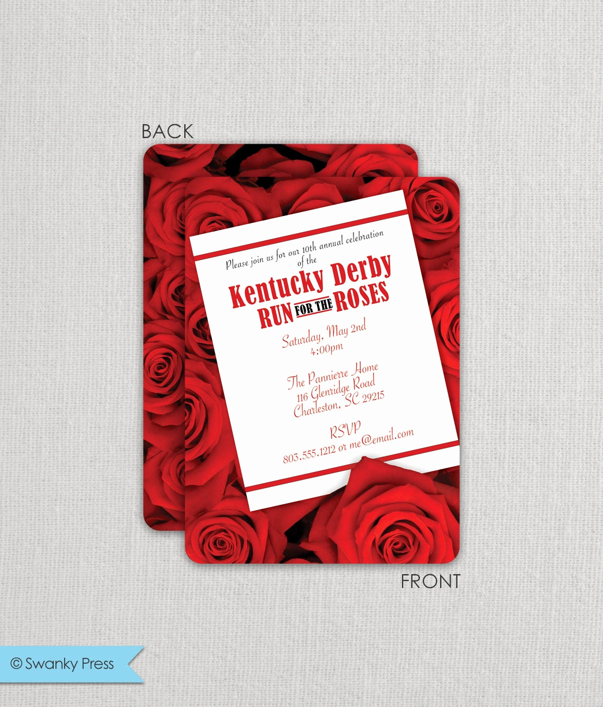 Kentucky Derby Invitation Wording New Kentucky Derby Invitation Derby Party Invitation Run for
