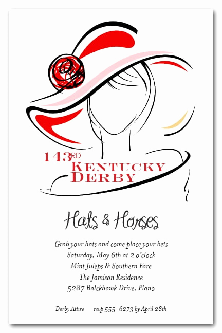 Kentucky Derby Party Invitation Wording Awesome Dressed Derby Party Invitations Horse Racing Invitations