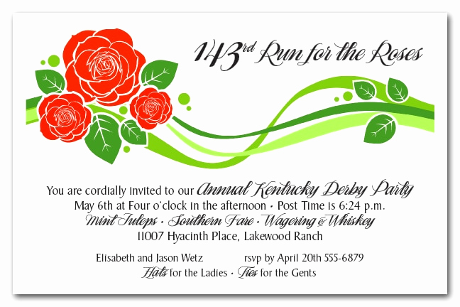 Kentucky Derby Party Invitation Wording Awesome Kentucky Derby Party Invitations the Invitation Shop