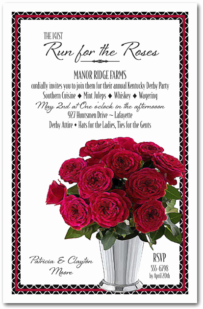 Kentucky Derby Party Invitation Wording Beautiful Julep Cup Of Roses Kentucky Derby Party Invitations