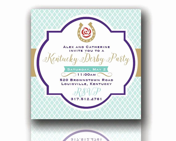 Kentucky Derby Party Invitation Wording Fresh the Perfect Invitations for Your Derby Party Just Send Us