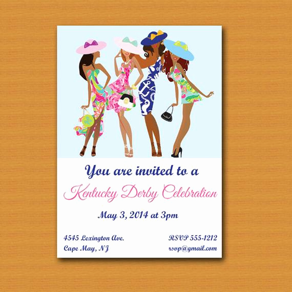 Kentucky Derby Party Invitation Wording Inspirational Kentucky Derby Party Invite by Destination Invitation