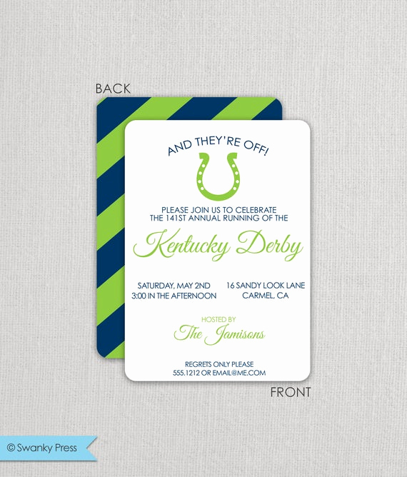 Kentucky Derby Party Invitation Wording Lovely Kentucky Derby Invitation Derby Party Invitation Run