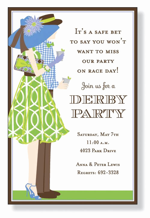 Kentucky Derby Party Invitation Wording Luxury Derby Fans Invitations by Inviting Pany Invitation